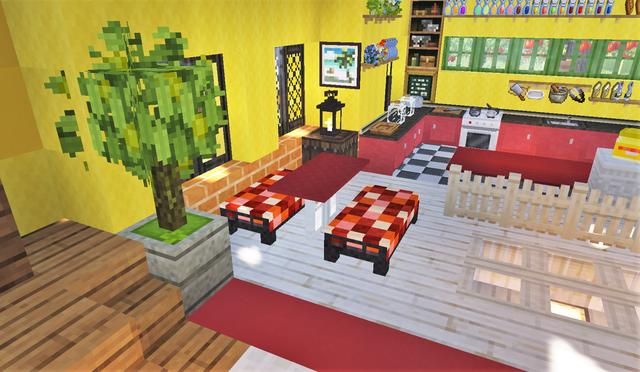 赤いテーブルとソファ2.png